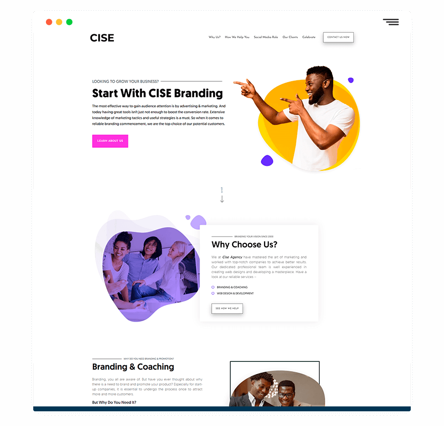 web design mock 3